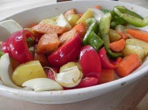 Acompañamos con verduras horneadas